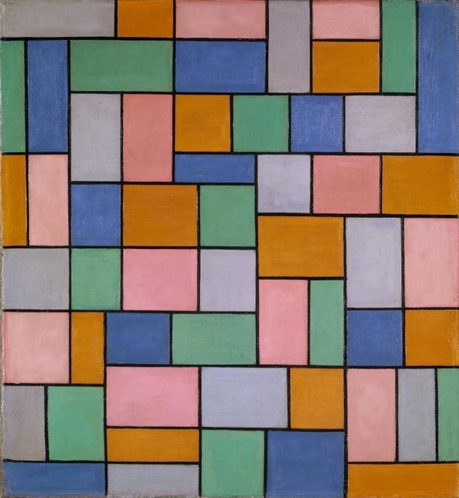 Papier peint vinyle Theo van Doesburg - Composition en dissonance - Reproductions