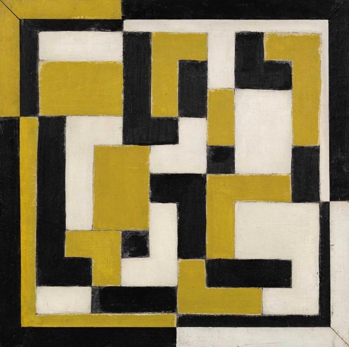 Naklejka Pixerstick Theo van Doesburg - Kompozycja - Reproductions