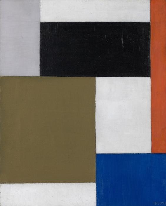 Papier peint vinyle Theo van Doesburg - Composition 1923-1924 - Reproductions