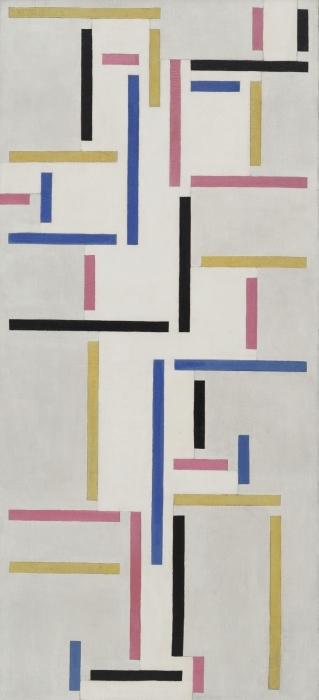 Papier peint vinyle Theo van Doesburg - Rythme d'une danse russe - Reproductions