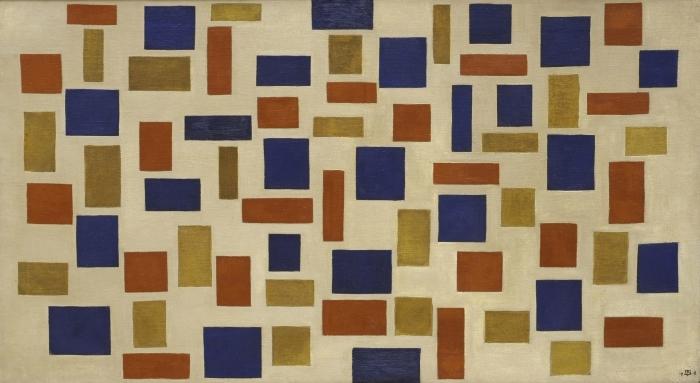 Papier peint vinyle Theo van Doesburg - Composition XI - Reproductions