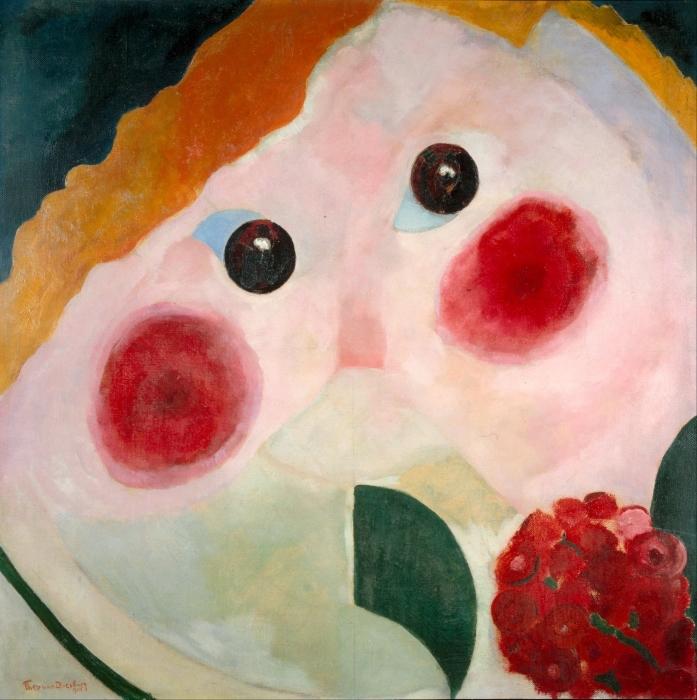 Papier peint vinyle Theo van Doesburg - Fille avec Ranunculus - Reproductions