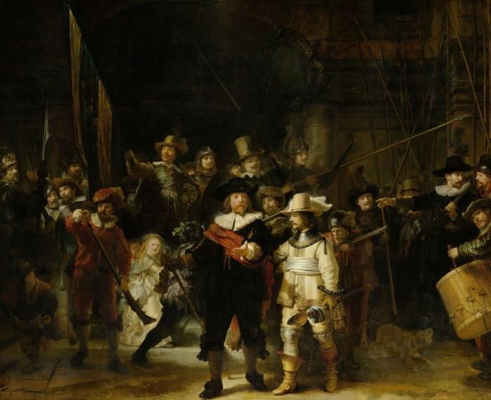 Sticker Pixerstick Rembrandt - La Ronde de nuit - Reproductions