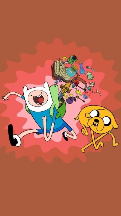 Adventure Time: Finn & Jake Pixerstick Sticker - Adventure Time