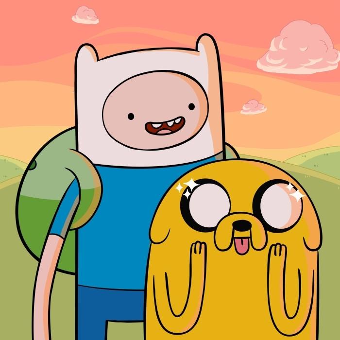 Fototapeta winylowa Pora na przygodę: Finn & Jake - Pora na przygodę