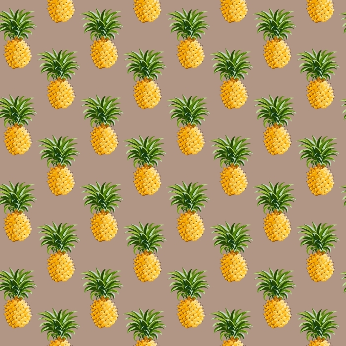 Naklejka Pixerstick Ananasy, tropikalne tło - Pineapple Fever