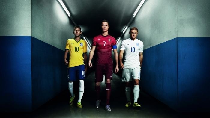 Fotomural Autoadhesivo Neymar, Ronaldo, Rooney - Cristiano Ronaldo