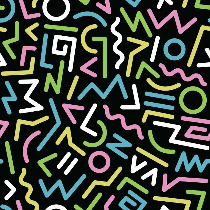 Naklejka Pixerstick Lata osiemdziesiąte wzorzec - Into the Groove