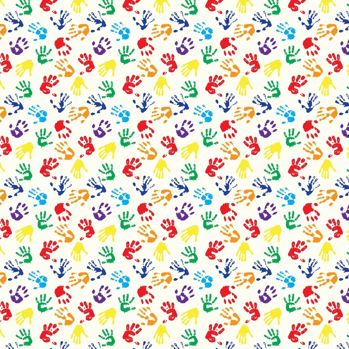 rainbow fingerprints Washable custom-made wallpaper - Graphic Resources