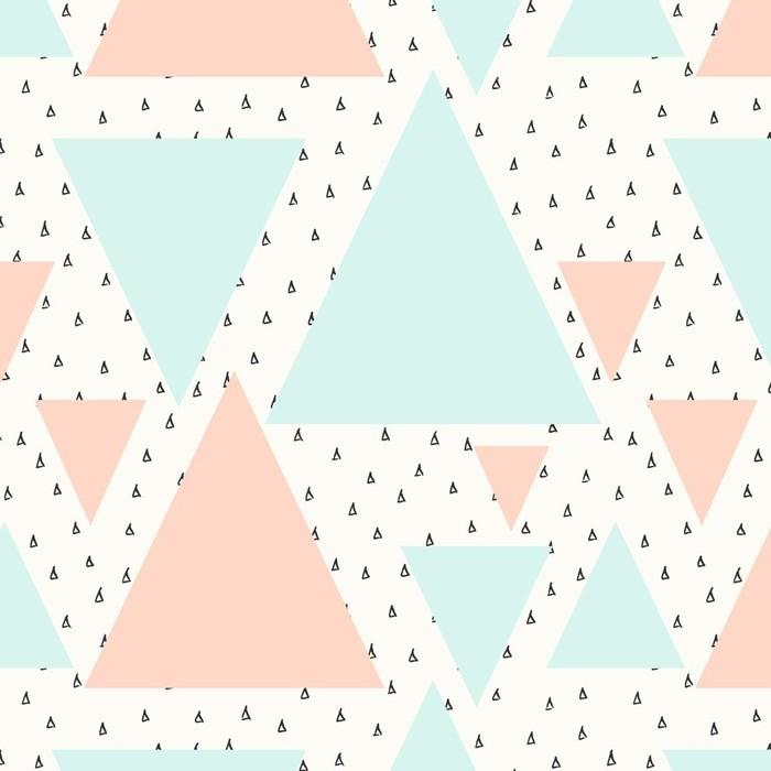 Afwasbaar behang, op maat gemaakt Abstract geometrisch patroon -