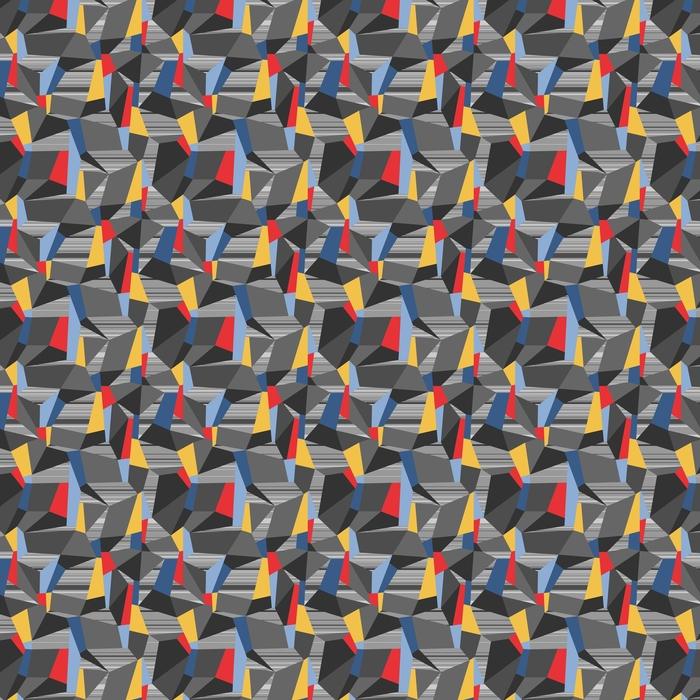 Geometrisk sömlös vektor polygon mönster