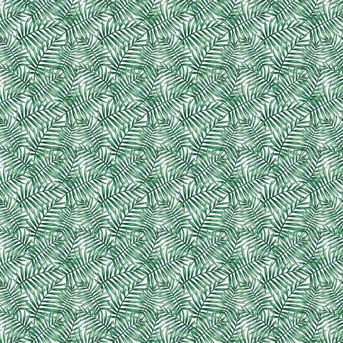 Abwaschbare Tapete Nahtlose Muster der tropischen Handfläche des Aquarells. Vektor-Illustration. - Grafische Elemente