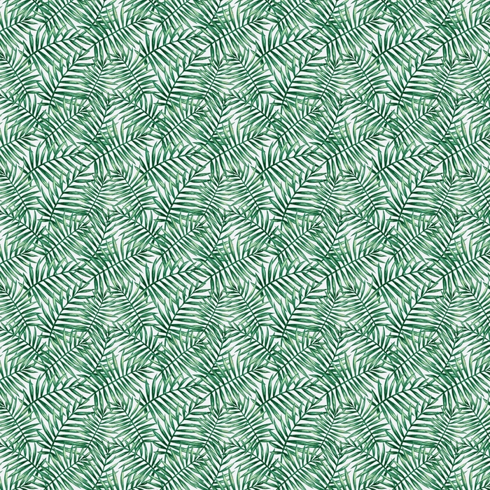 Akvarell tropisk palm lämnar sömlöst mönster. vektor illustration.