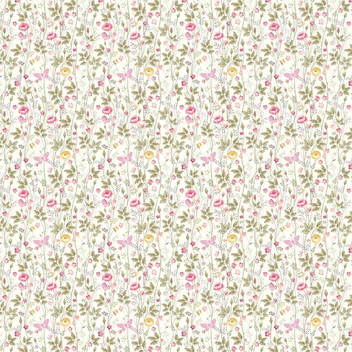 Sin patrón floral con rosas y mariposas