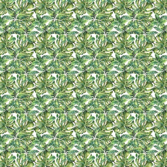 Verano acuarela exótica patrón transparente