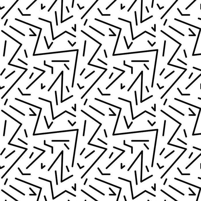 Papier peint lavable sur mesure Seamless vintage pattern géométrique dans le style rétro des années 80, memphis. Idéal pour la conception du tissu, du papier d'impression et le site Web toile de fond. fichier vectoriel EPS10 - Ressources graphiques