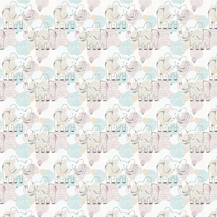 Vector dibujado patrones geométricos sin fisuras con elefante