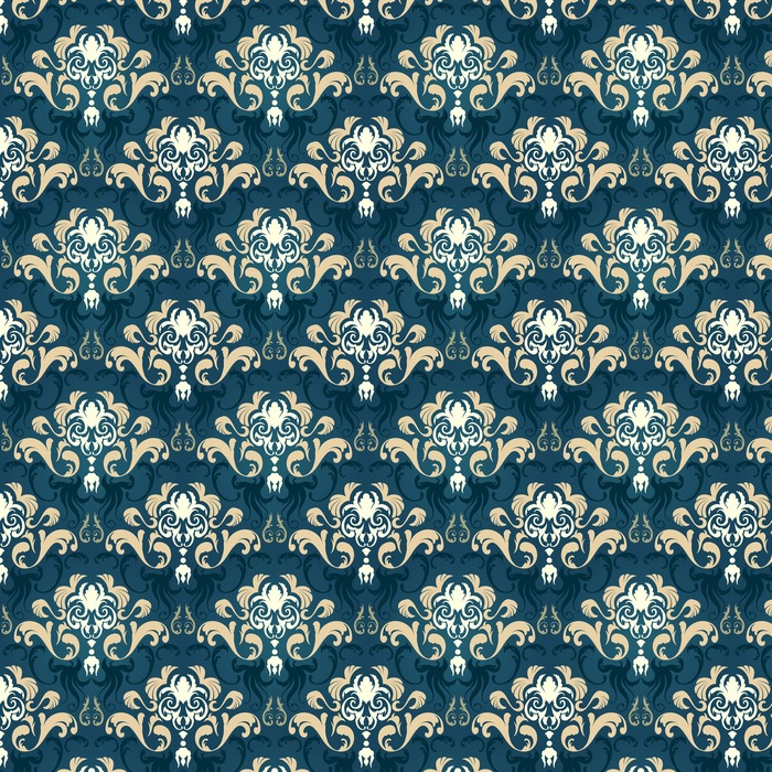 Damask seamless pattern Washable custom-made wallpaper - Graphic Resources
