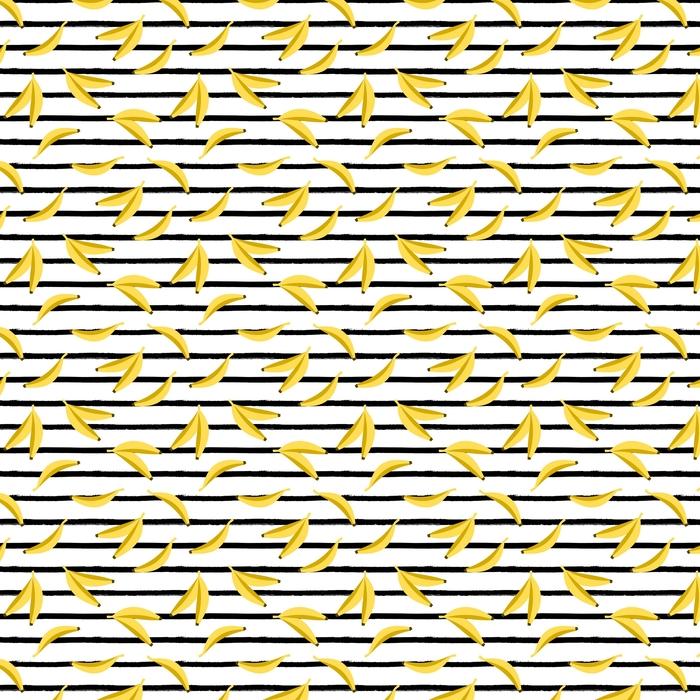 Seamless Bananas Pattern Washable custom-made wallpaper - Food