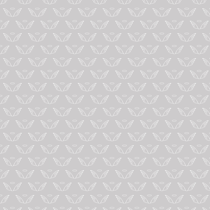 Angel wings gray sketch pattern Washable custom-made wallpaper - Graphic Resources
