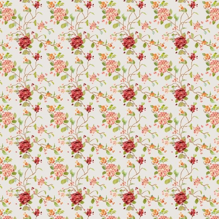 Vintage blommor - blommor hortensia bakgrund - sömlösa mönster