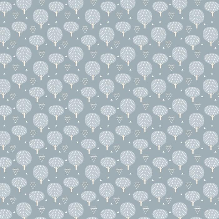 Problemfri mønster i moderne skandinavisk stil. Vektor geometri baggrund af nord natur. Personlige vaskbare tapet -