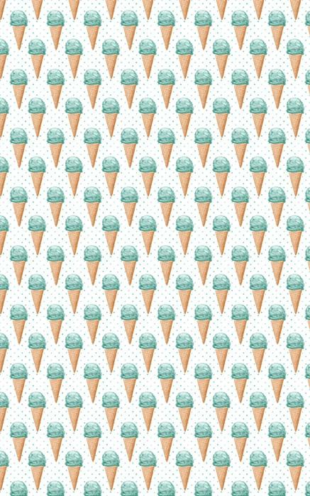 Jednolite wzór akwarela z szyszek lodów ręcznie malowane tła