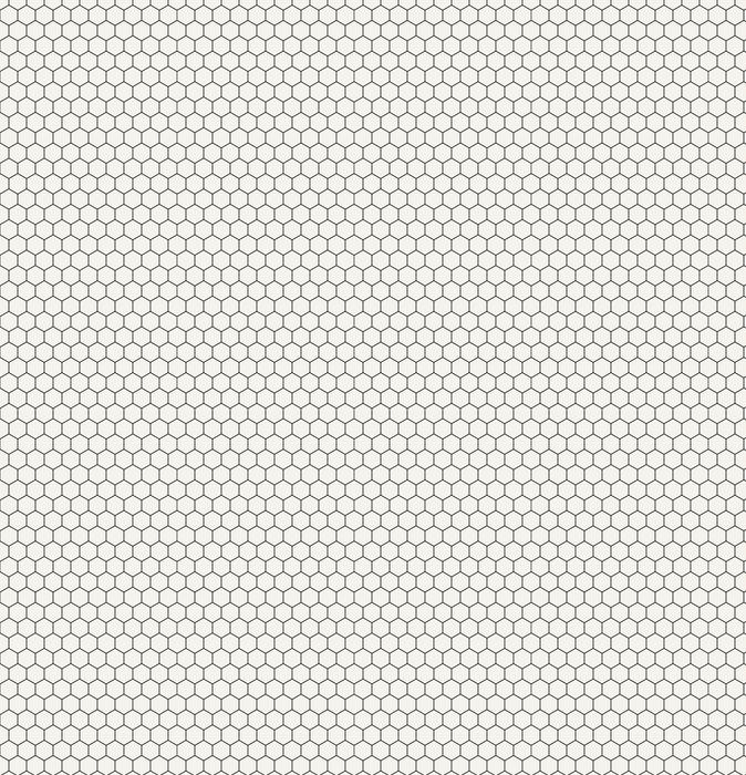 Heksagon geometrisk svart og hvitt grafisk mønster