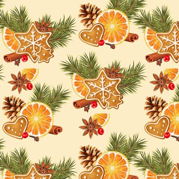 Papier peint lavable sur mesure Orange et épices sans soudure - Nourriture