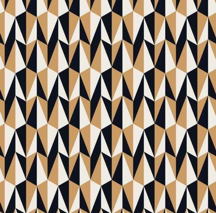 Afwasbaar behang, op maat gemaakt Naadloze retro patroon - Graphic Resources