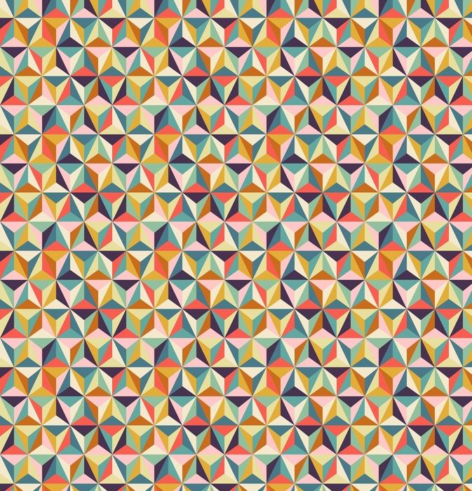 Sømløs geometrisk retro mønster