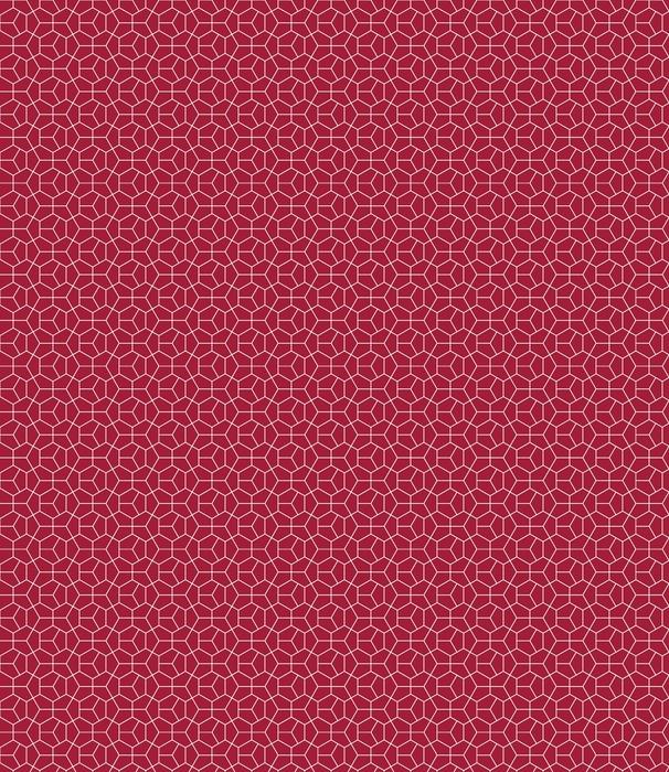 Streszczenie geometrii czerwony art deco wzór sześciokąta