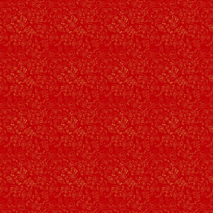 Chinees naadloos patroon van rode kleur met een gouden ornament.