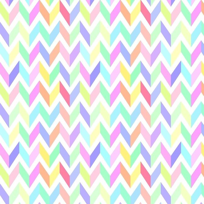 Papier peint lavable sur mesure Vecteur transparente motif chevron pastel - Ressources graphiques