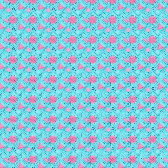 Bezszwowe inspirowane latami 80. graficzny wzór linii i geometrycznych kształtów. styl memphis