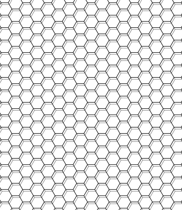 Wzór z sześciokątów. czarno-białe tło geometryczne.