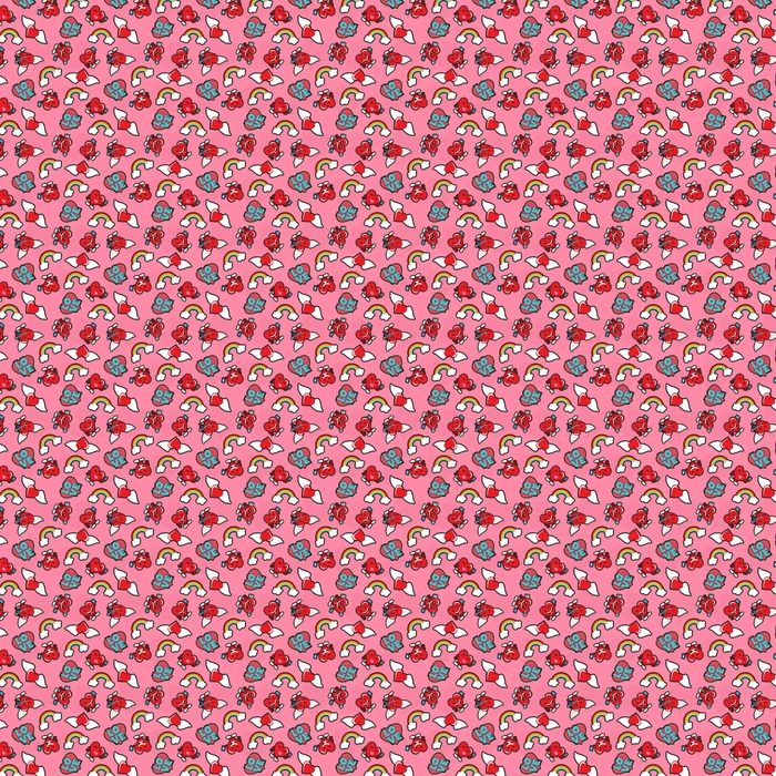 Valentines day love patch icon seamless pattern