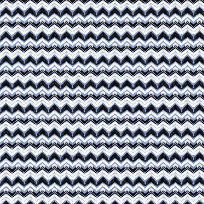 Flerfarget håndtegnet mønster zigzag