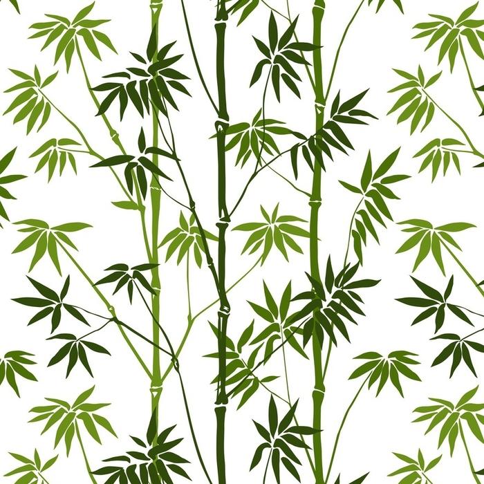 Afwasbaar behang, op maat gemaakt Bamboe naadloos patroon - Bloemen en Planten