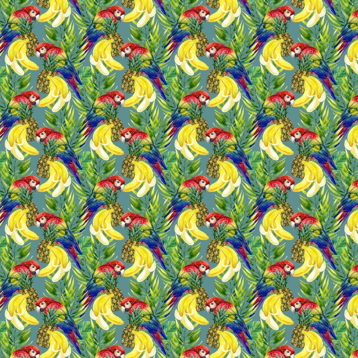 Parrot seamless pattern Washable custom-made wallpaper - Animals