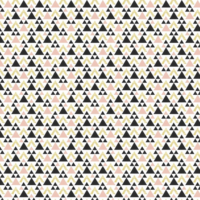 Fond de triangle géométrique or. Abstract seamless pattern avec des triangles en or et gris foncé.
