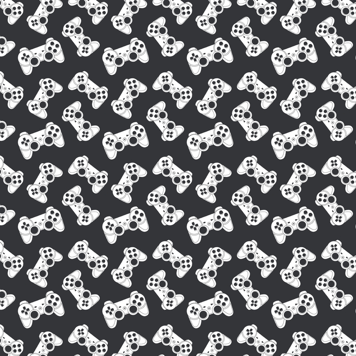 Joystick Vector Seamless Washable custom-made wallpaper - Graphic Resources