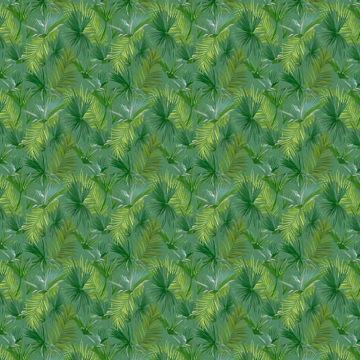 Hojas de palmera tropical, selva hojas vector floral de fondo sin fisuras