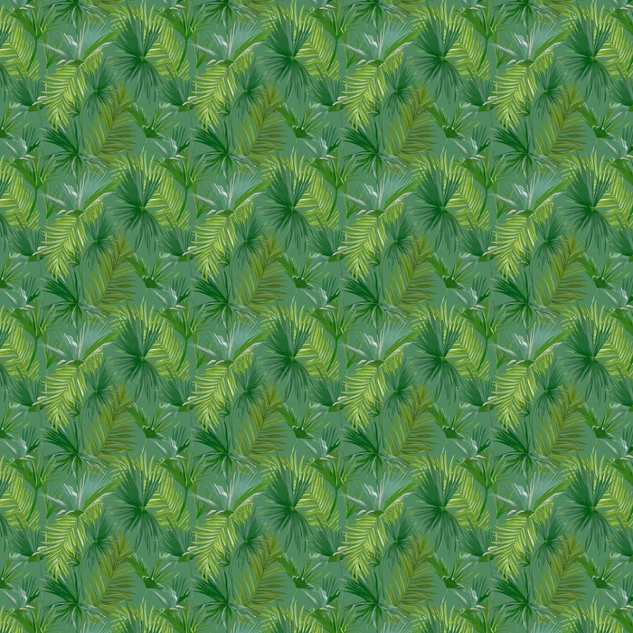Tropical Palm Leaves, Jungle Leaves Seamless Vector Floral Pattern Background Washable custom-made wallpaper - Plants and Flowers