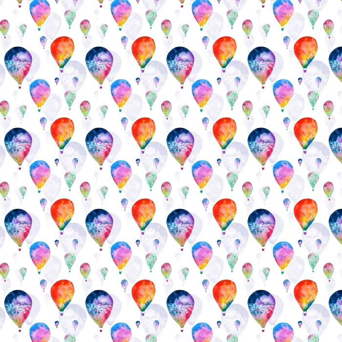 Watercolor balloon Washable custom-made wallpaper - Graphic Resources