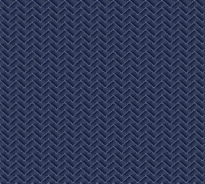 Bezszwowe niebieskie tło chińskie orientalne krzywej fali krzyża geometrii linii