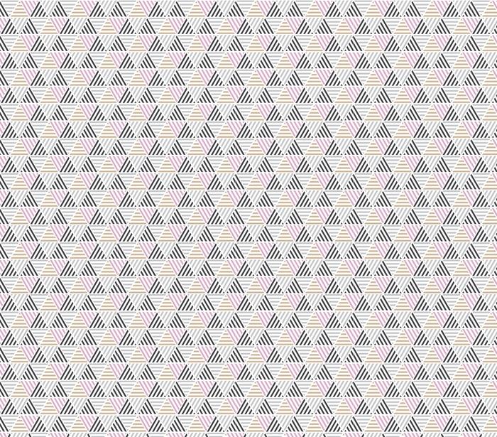 Nowoczesny styl ilustracji wektorowych do projektowania powierzchni. abstrakcyjny wzór bez szwu z motywem trójkąta w naturalnych kolorach beżu i szarości.