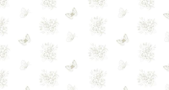 Papier peint lavable sur mesure Beau modèle sans couture avec des motivies floraux et des papillons dans le style français 3 - Ressources graphiques