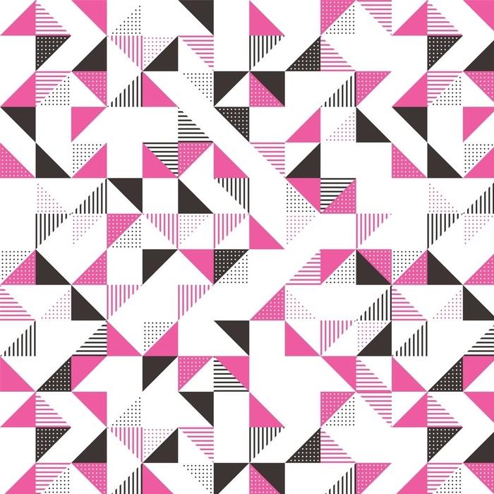 Papier peint lavable sur mesure Un fond géométrique rose et gris. - Ressources graphiques