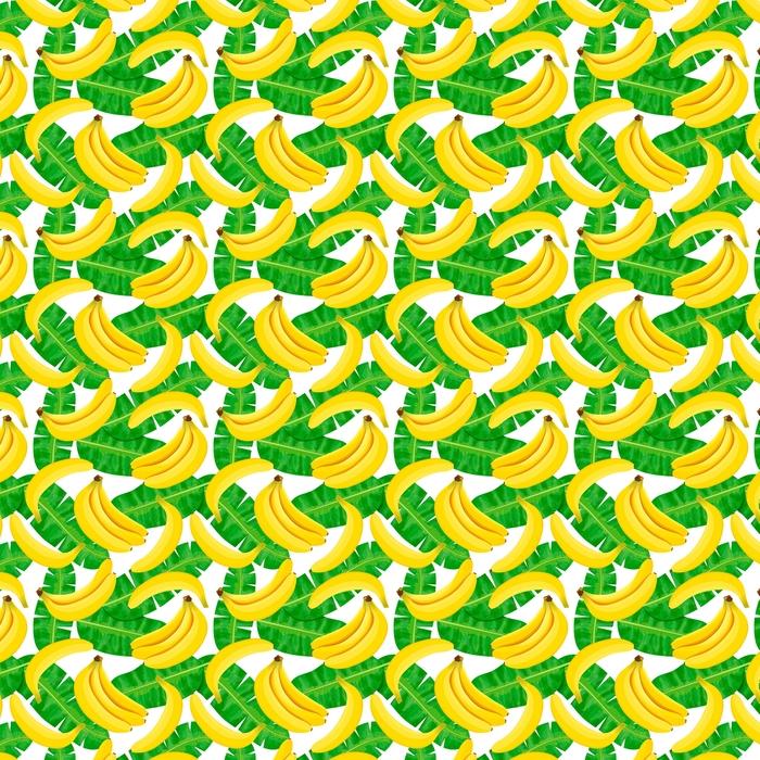 Ilustración de acuarela transparente de hojas tropicales, densa selva. Patrón con motivo de verano trópico se puede utilizar como textura de fondo, papel de embalaje, textiles, diseño de papel tapiz. Hojas de palma de plátano
